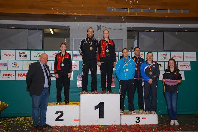 Belgisch Kampioen dubbel gemengd tafeltennis