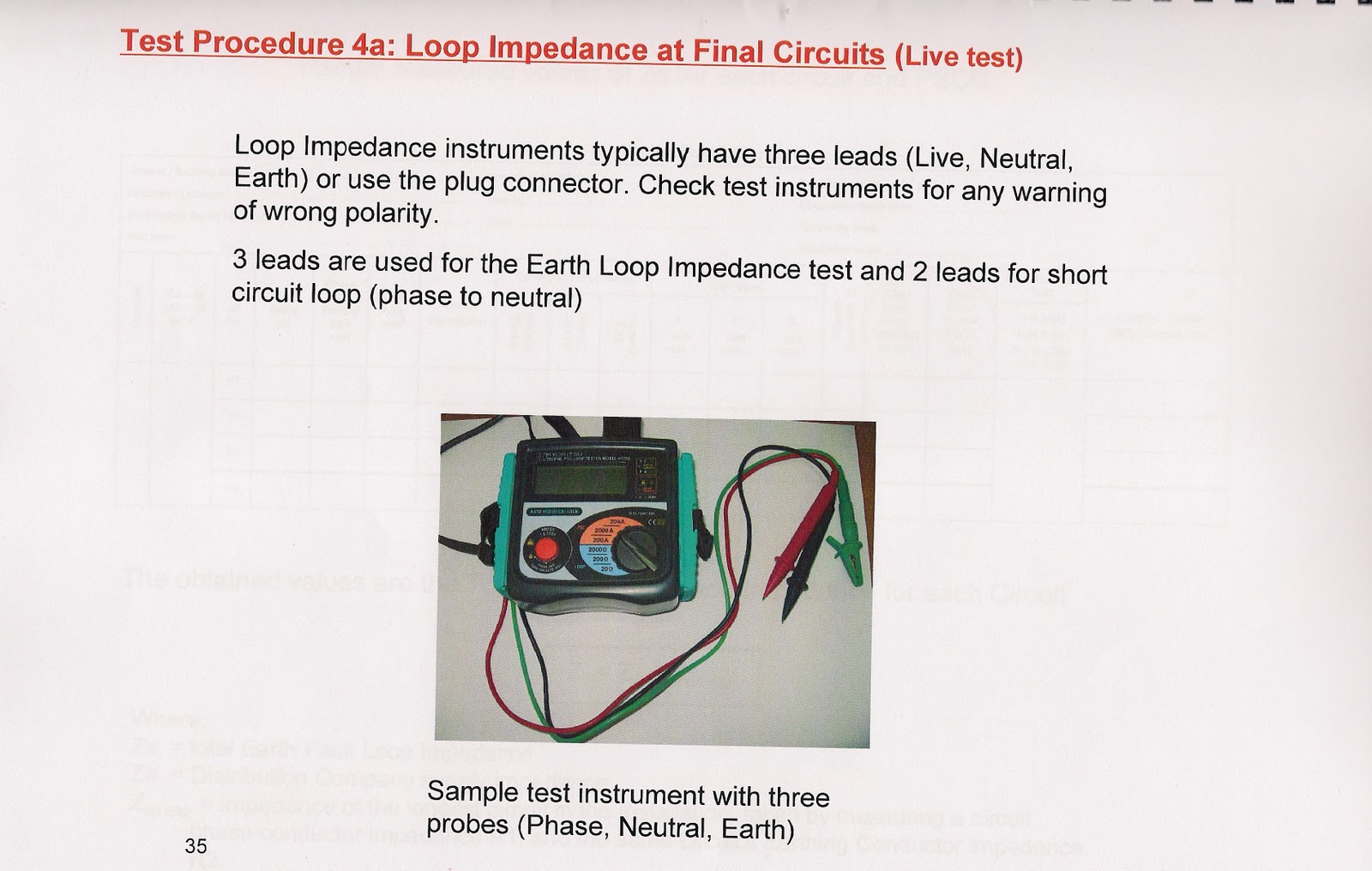 earth fault loop impedance diagram doorbell wiring uk ampere electrical contracting est how to do testing for