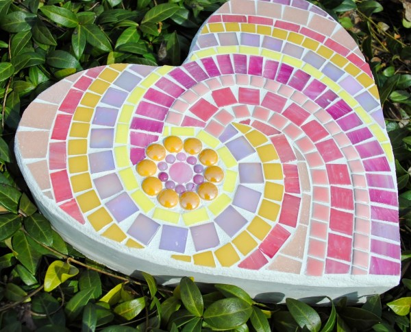 Heart Mosaic Stepping Stone