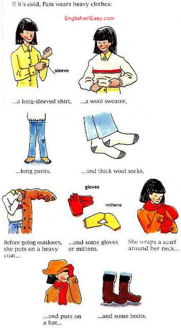 服を着る - 女性 - 日常活動のための英語絵辞書