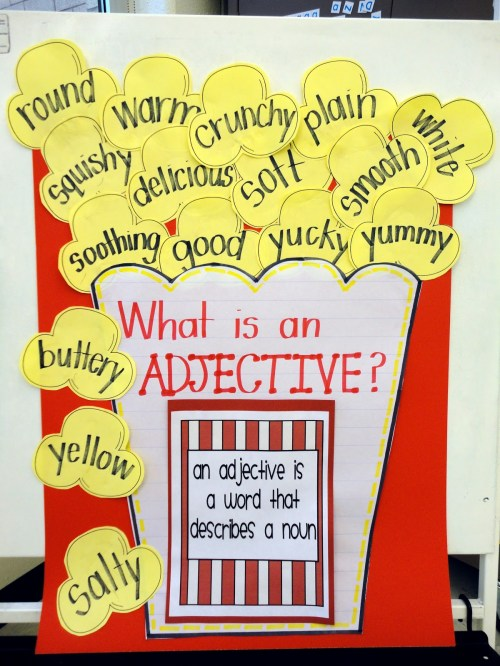 small resolution of Let's Get Poppin' with Adjectives {First Grade Adjective Activity} -  Babbling Abby