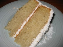 Gluten & Dairy Free Coconut Cake