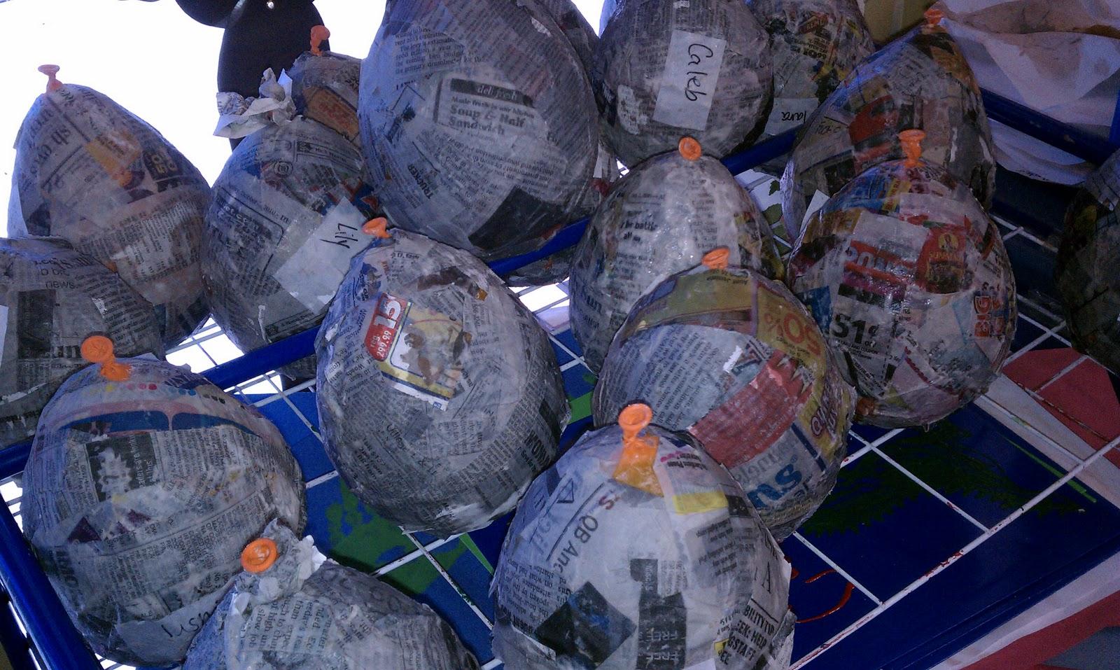 Preschool Art And Crafts Paper Mache Jack O Lanterns