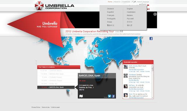 *一起加入充滿希望的工作吧!! Umbrella Corporation Web Site 2