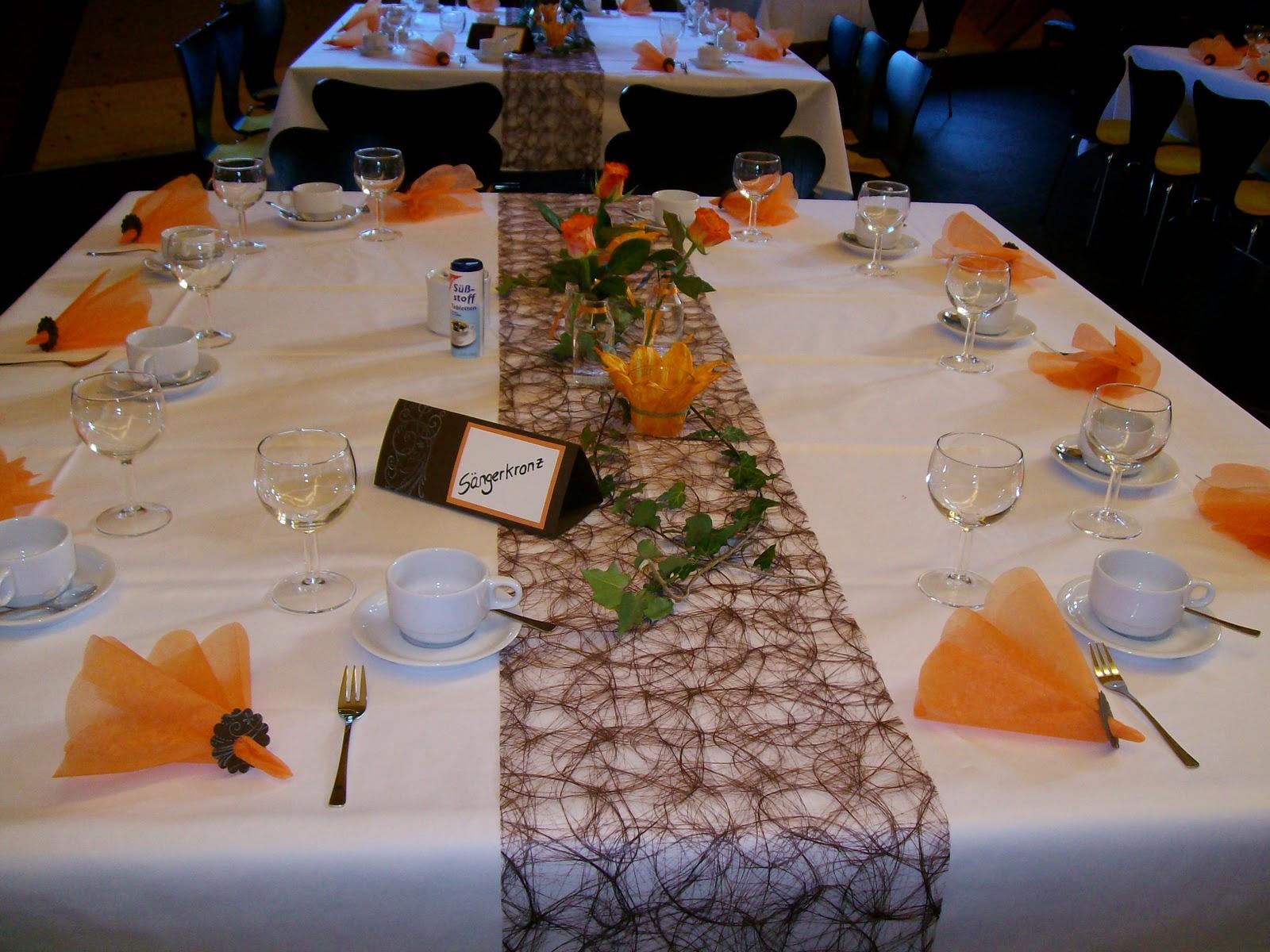 IdeenOase Tischdeko zur Goldenen Hochzeit