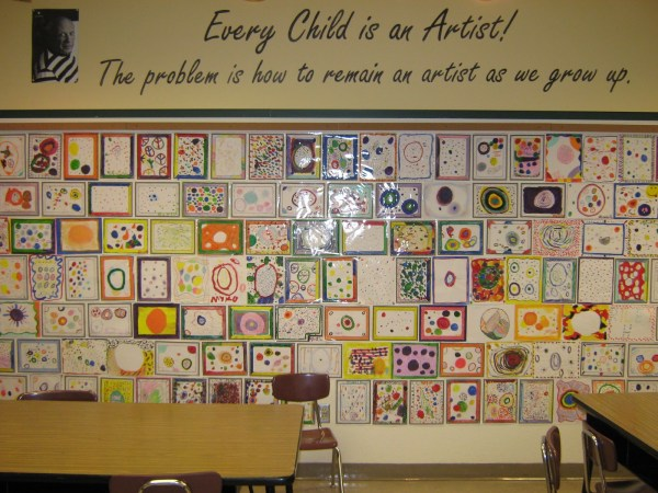 The Dot by Peter Reynolds Art Project