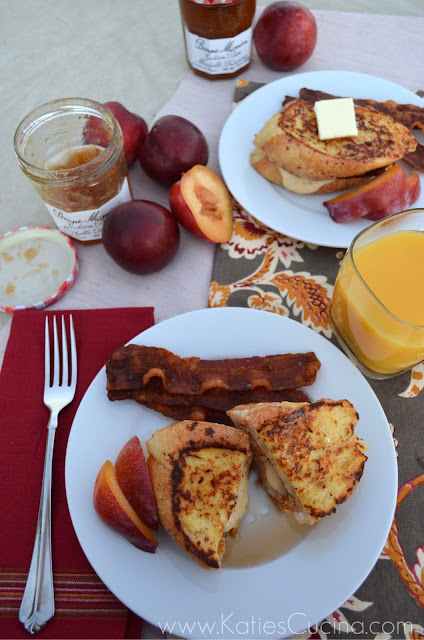 Buttermilk French Toast Stuffed with Golden Plum Cream Cheese  Giveaway  Katies Cucina