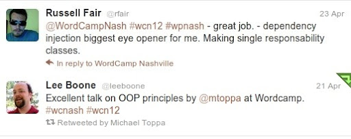 @rfair's tweet about my session