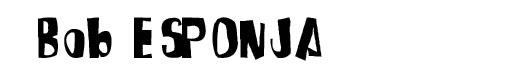Spongefont font log SpongeBob Bob Esponja