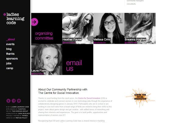 *用色簡單帶出精緻感的 Ladies  Ladies Learning Code Web Site 2