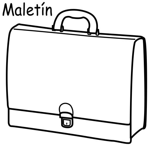 為孩子們的著色頁: briefcase, free coloring pages