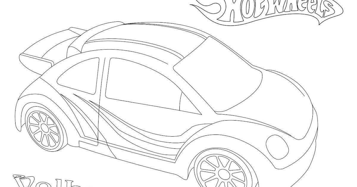 [Hot Wheels] Volkswagen New Beetle Coloring Page