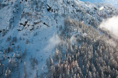 La Valcanale dall'elicottero, foto di Alberto Bigoni