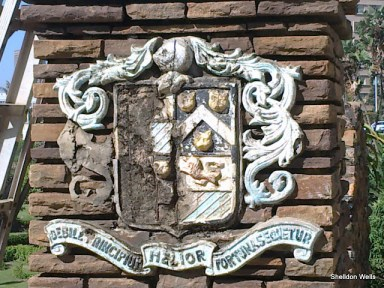 Coat of Arms at the entrance to the Sunken Gardens, Durban Beachfront