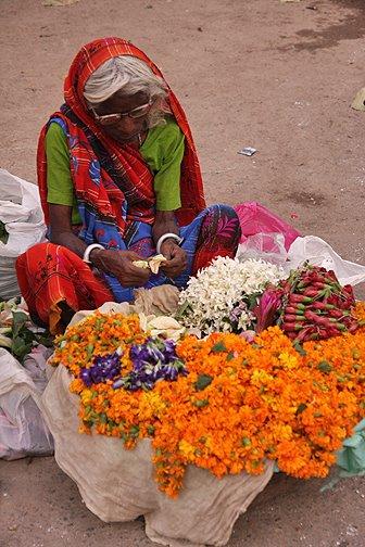flower sellers for puja offerings