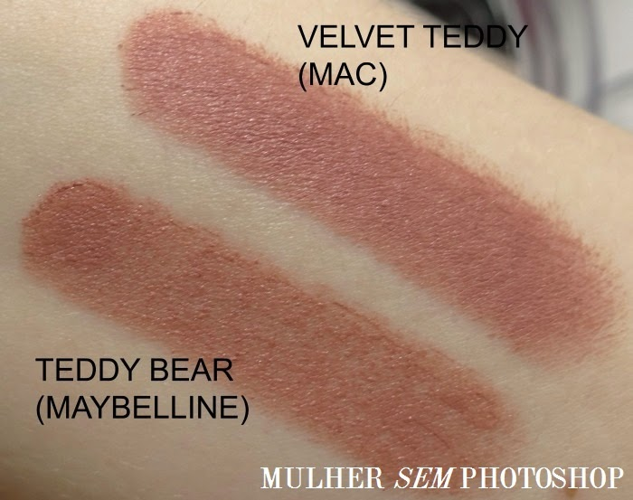 Comparação Velvet Teddy (Mac) x Teddy Bear (Maybelline)