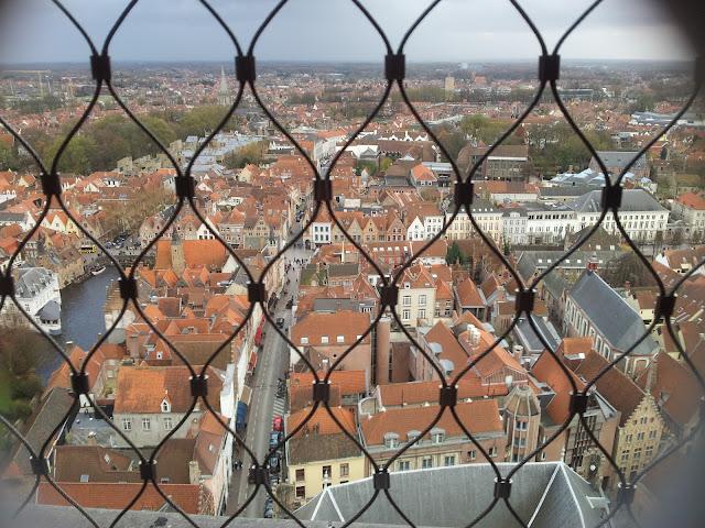 Vista desde el campanario de Brujas