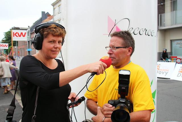 interview voor Radio2 met fotograaf Francky Dryepondt