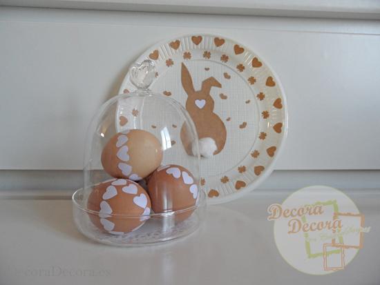 Decorar fácilmente Huevos de Pascua.
