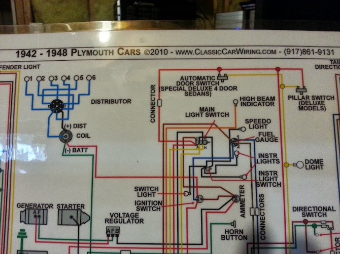 classic car wiring color diagrams  electrical  p15d24