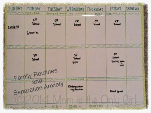 http://www.momistheonlygirl.com Family rhythms and anxiety