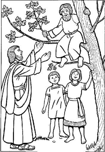 Dibujos Católicos : San Zaquel de Jerusalen para colorear