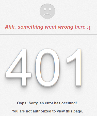 custom error 401 pada framework codeigniter