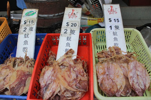 dried squid snacks, what to eat at tai o village, what to eat at lantau island