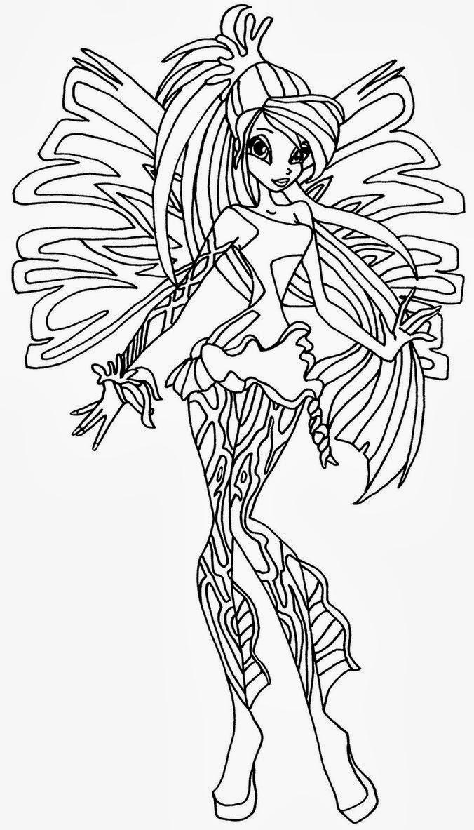 Disegni Da Colorare E Stampare Winx Sirenix