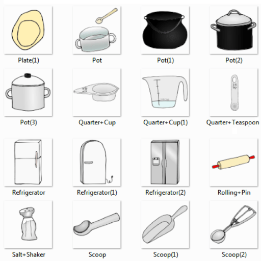 Names Of Kitchen Utensils And Pictures In English