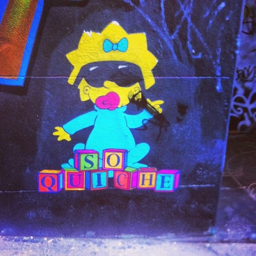 Street art - Hosier Lane - Maggie Simpson so quiche