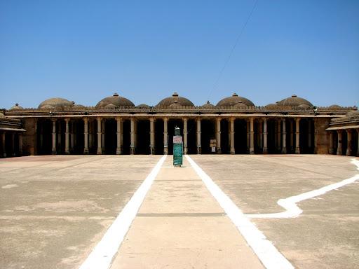 Inside the Jama Masjid, Sarkhej