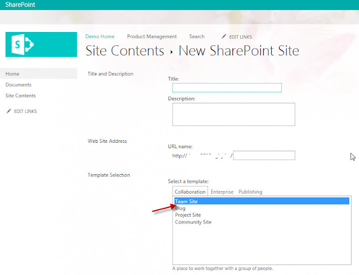 site collection template sharepoint 2013