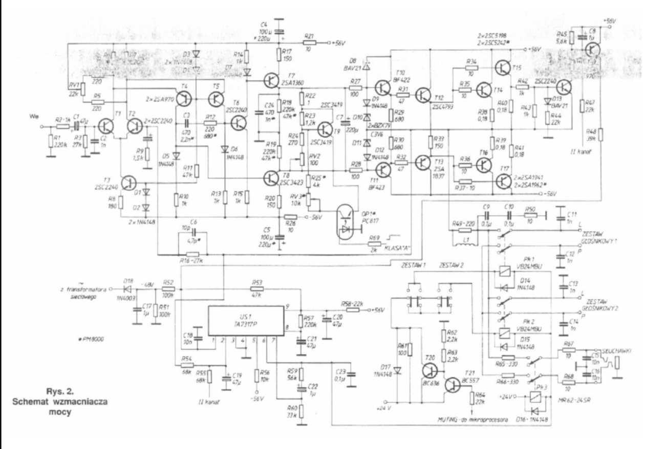 Skema audio power amplifier