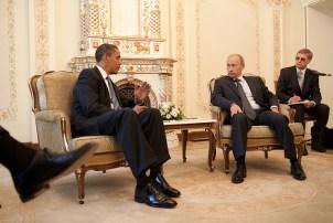 Barack Obama & Vladimir Putin at Putin's dacha in 2009