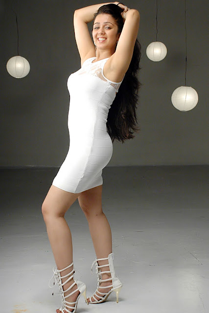 Cute Sweet Girl Wallpaper Charmi Kaur New Spicy Looking White Dress Photo Shoot