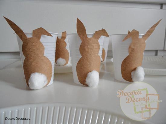 Decoración de mesa para Pascua.