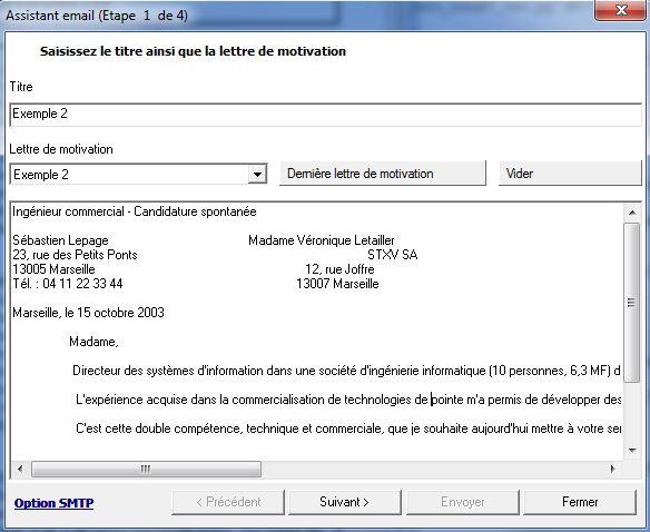 exemple de mail envoi cv