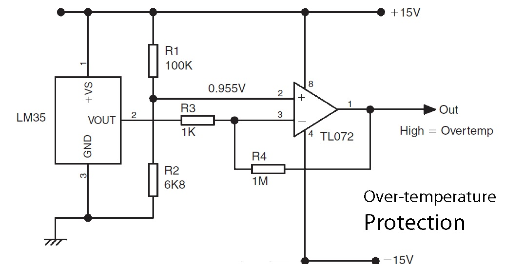 automotif wiring diagram: Basic LM35 temperature sensor