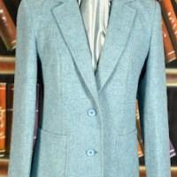Elegant Pale Blue Tweed Jacket for Spring
