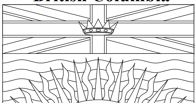 Geography Blog: British Columbia Flag Coloring Page