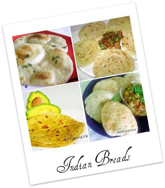 Veg-Recips -Indian Breads |kothiyavunu.com