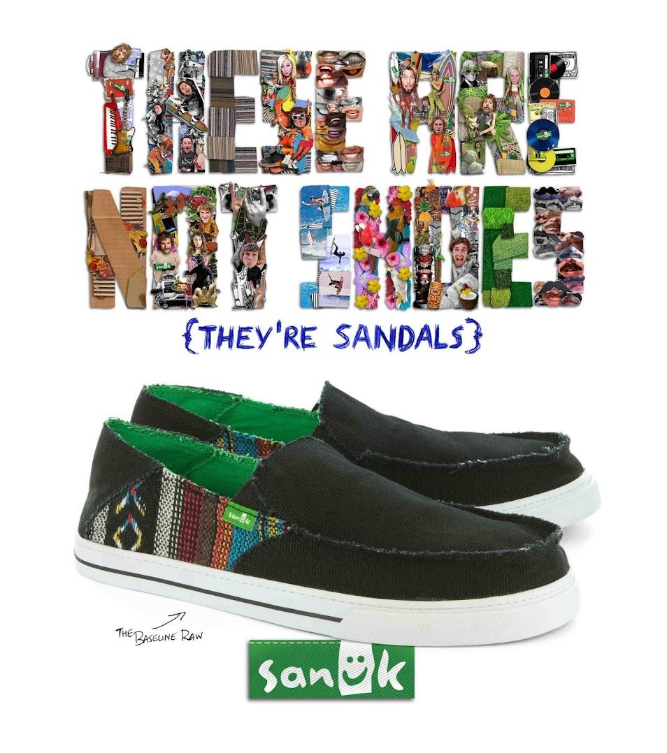 *Sanuk:窄版BAJA圖騰拼接帆布鞋! 1