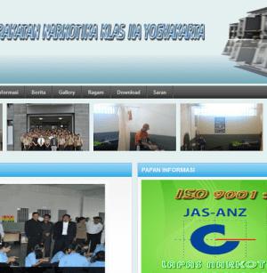 Website Lapas Narkotika Kelas II A Yogyakarta