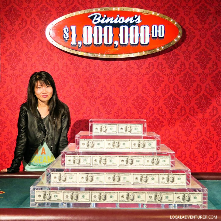 Binions Million Dollar Photo (25 Free Things to Do in Las Vegas).