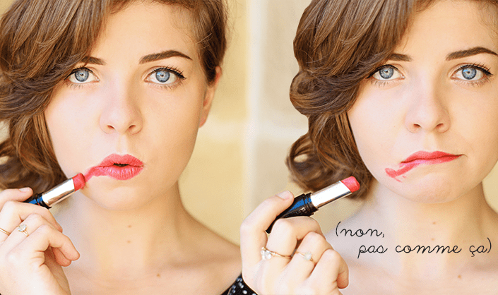 dessiner bouche rouge, faire tenir son rouge à lèvre, tutoriel maquillage bouche rouge, lipstick longue tenue, maitriser le rouge à lèvres