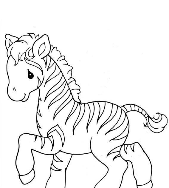 Zebra precious moments ~ Child Coloring