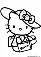 disegni da colorare: DISEGNI DA COLORARE: HELLO KITTY