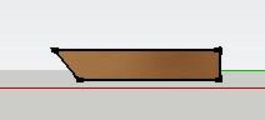 beveling the front edge of wood floor countertop