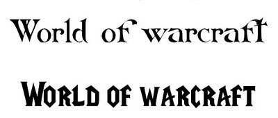 Collection of World of Warcraft Fonts
